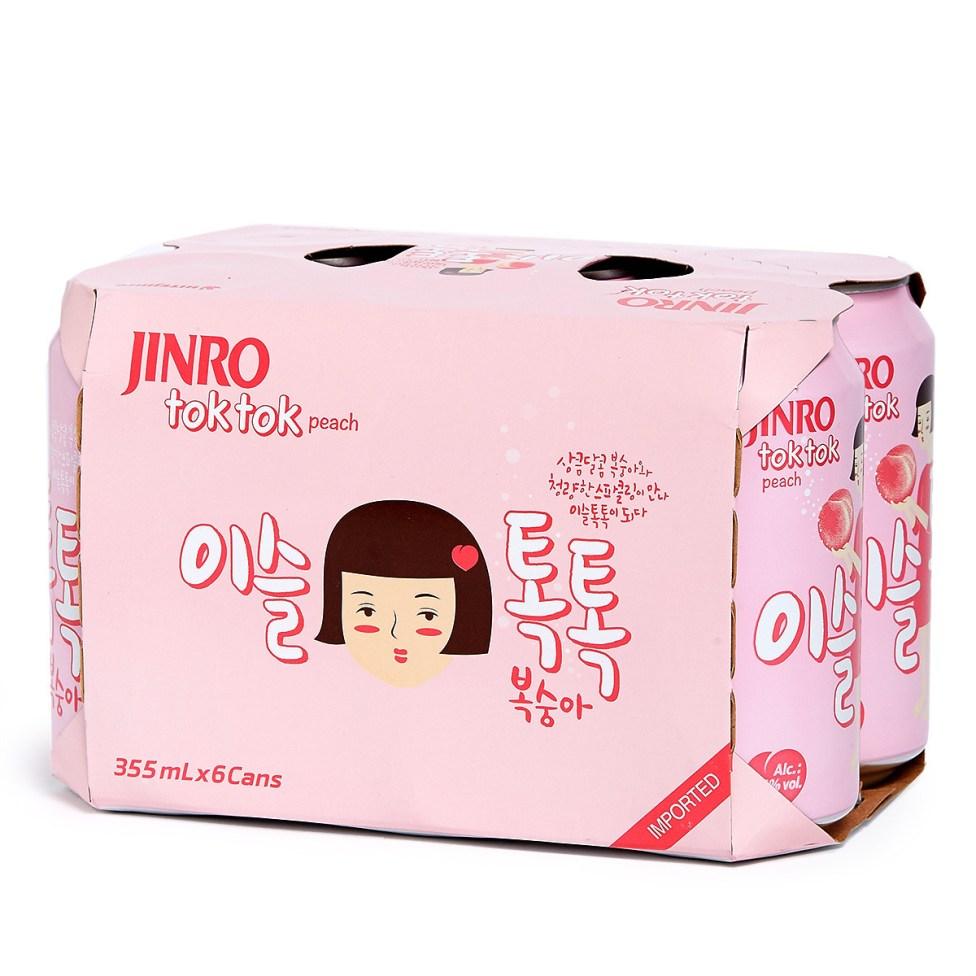 真露 韓國桃味氣酒 (罐裝)