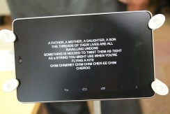 Here is sample of how tablet displays the actor's dialog