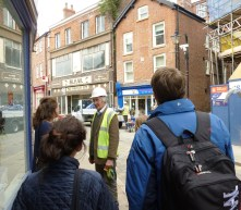 A building contractor talks to us about the re-reconstruction of a building on Hillgate which was subject to an arson attack last year when a renovation was close to completion