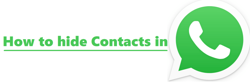 how to hide contact in whatsapp