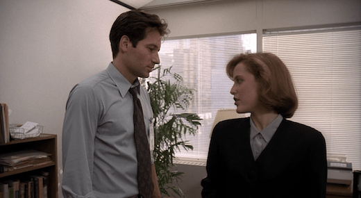 Mulder and Scully Flirt in Squeeze Exhibit 1.png