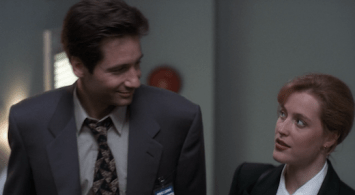 Mulder and Scully Flirting in Squeeze Exhibit 3