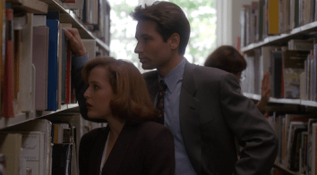 Scully and Mulder on a study date
