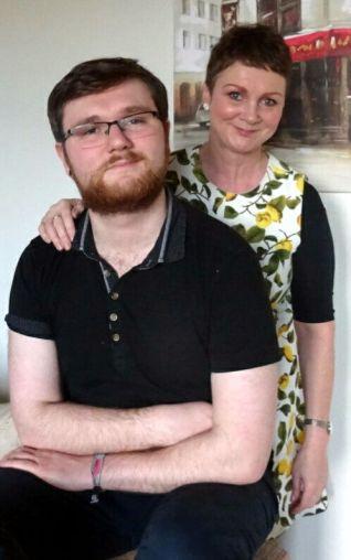 Evelyn Ann Wilson with her son John