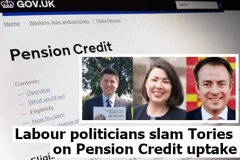 Labour politicians slam Tories on Pension Credit uptake