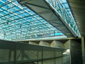 NGV St Kilda Road ceiling over foyer