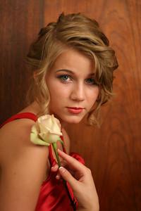 Senior pic with rose