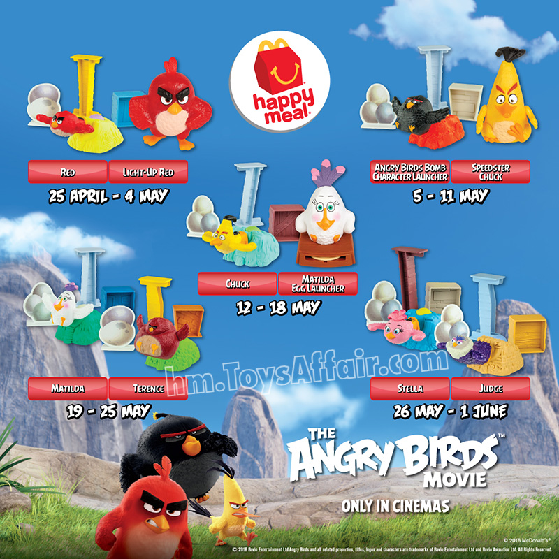 The Angry Birds Movie Happy Meal Toys