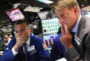 traders pensive NYSE