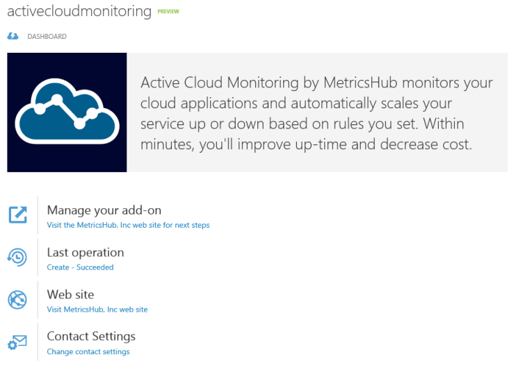 Panel Active Cloud Monitoring