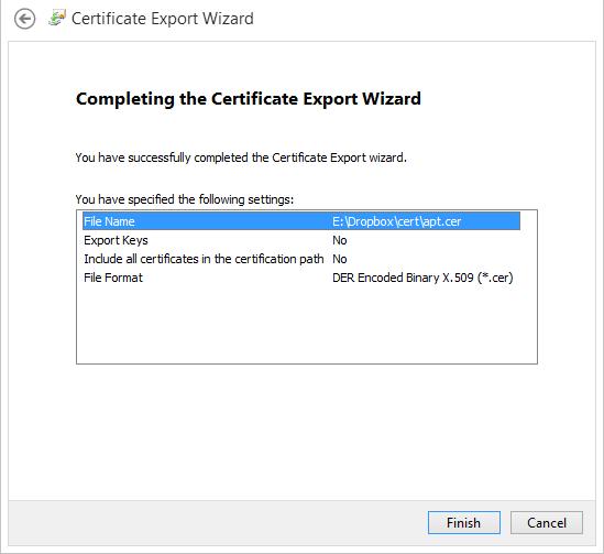 Exportación finalizada