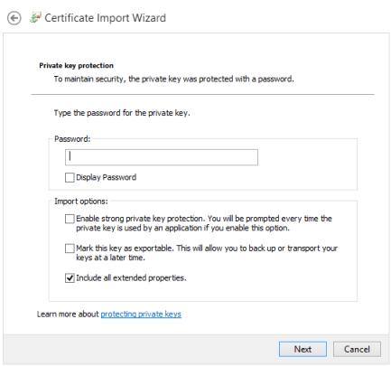 Instalando certificado cliente