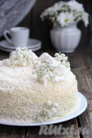 Торт с кокосовой стружкой и маком – Маково-кокосовый торт ...