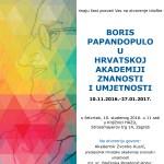 """Izložba """"Boris Papandopulo u Hrvatskoj akademiji znanosti i umjetnosti"""""""