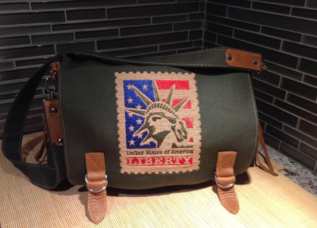 Finished U shaped messenger bag
