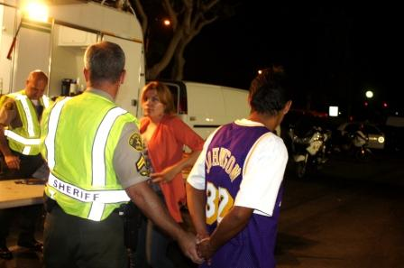 Arrest at DUI Checkpoint in Norwalk
