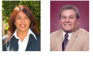 Central Basin Water District Board Members Leticia Vasquez and James Roybal.