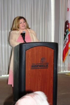 Rep. Linda T. Sanchez was in Norwalk this week.  Randy Economy Photo