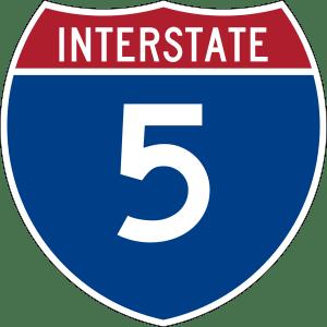 5 freeway sign