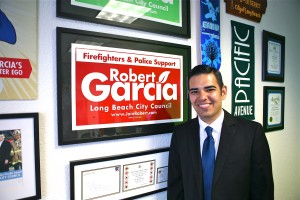 Long Beach Vice Mayor Robert Garcia announces plans to run for the city's top spot in 2014.  Photo from the Garcia campaign,