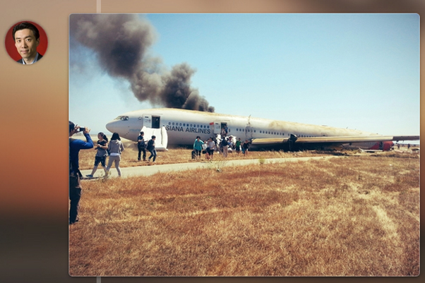 Photo of Asian crash via surviving passenger David Eun (@Eunner) via Twitter.