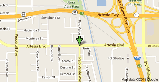 Location of incident is at Artesia Boulevard and Palo Verde Avenue.