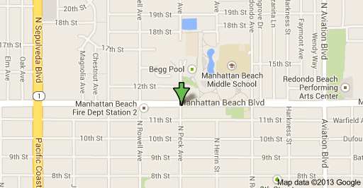 Location where dead body was found in Manhattan Beach.