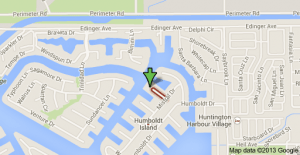 Location of deadly explosion in Huntington Beach.