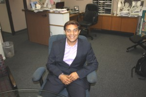 Ali Taj visits with Hews Media Group-Community Newspaper recently to talk about his campaign.  Randy Economy Photo