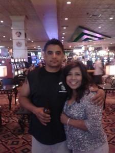 Suspect Ruben Guerrero via the Facebook page of his wife, Montebello Mayor Christina Cortez (right)