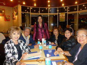 ABC School Board winner Lynda Johnson was joined by members of the Philippine US-Veterans Association at an election night party in Cerritos on Tuesday.  Photo provided by the Johnson Campaign.