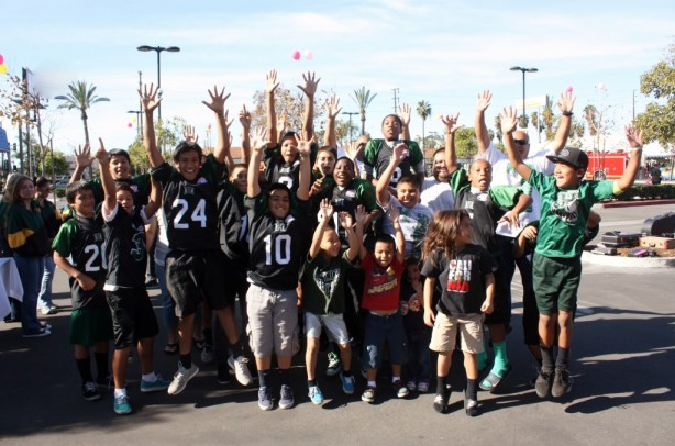Caption: Members of the Hawaiian Gardens Pop Warner Warriors are heading to Orlando, Florida to participate in the 2013 National Championships.  The team visited with local city leaders, as well as Sheriff Lee Baca, and former Assemblyman Tony Mendoza this past week.