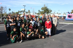 : Members of the Hawaiian Gardens Pop Warner Warriors are heading to Orlando, Florida to participate in the 2013 National Championships.  The team visited with local city leaders, as well as Sheriff Lee Baca, and former Assemblyman Tony Mendoza this past week.
