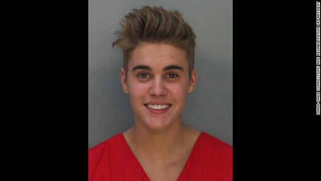 """Justin Bieber was charged with drunken driving, resisting arrest and driving without a valid license after police saw the pop star street racing in a yellow Lamborghini in Miami on January 23. """"What the f*** did I do?"""" he asked the officer. """"Why did you stop me?"""" He was booked into a Miami jail after failing a sobriety test."""