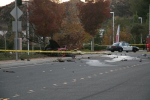 Scene of deadly accident that killed Paul Walker and Roger Rodas.
