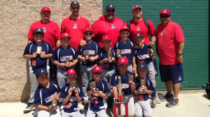 The members of the 2014 Cerritos Legend youth travel baseball team are Noah Andrunas, Brandon Casas, Colby Cather, Nick Leung, Ryan Martinez, Kaleb Nakano, Jarrett Nielsen, Hayden Roberts, Royce Roberts, Ryan Rodriguez and Henry Wonderlick. The head coach is Bruce Wonderlick and the assistant coaches are John Andrunas, Keith Nakano, Jon Nielsen and Sean Roberts.