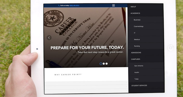 Helping Career Point College With A Website Redesign