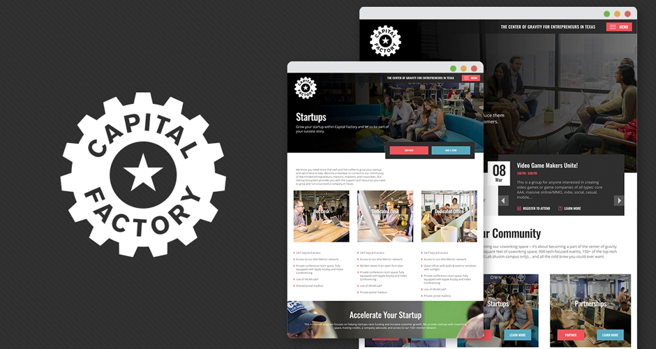 HMG Creative Receives W3 Award for Capital Factory Website Redesign