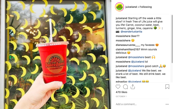 @Juiceland post of user-generated content