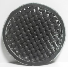 plain weave platter with ball foot