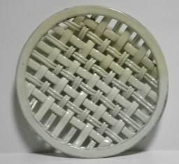 yellow soda-fired plain weave platter