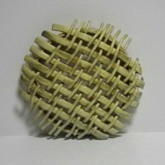 yellow woven wall piece