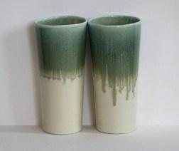 Yellow and green 20 oz. porcelain tumbler