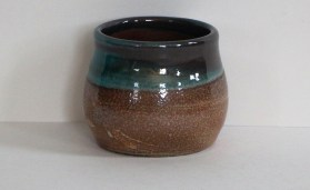 small soda-fired pot