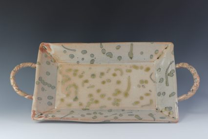 wide handle tray spotty
