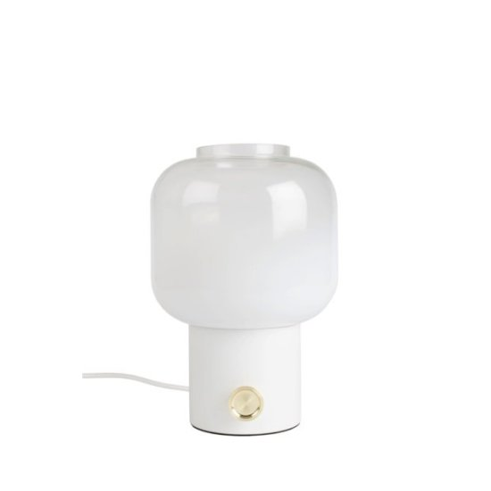 Tafellamp-glas-wit-zuiver