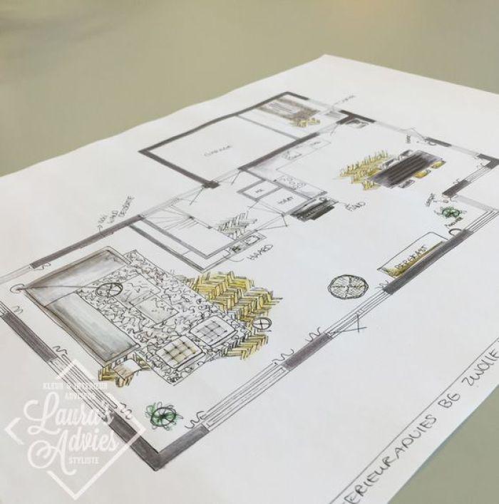 interieurontwerp-tekening