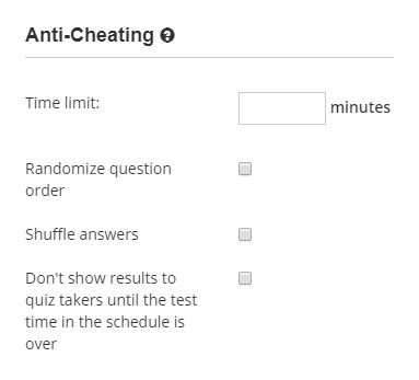 Enable anti-cheating protection for the exam