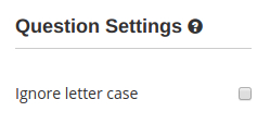 """The """"Ignore letter case"""" option for fill in the blank questions in the online exam creator HmmQuiz"""
