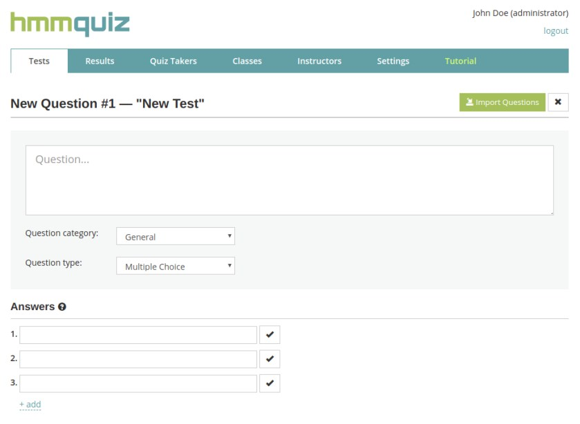 Manage questions in your online tests